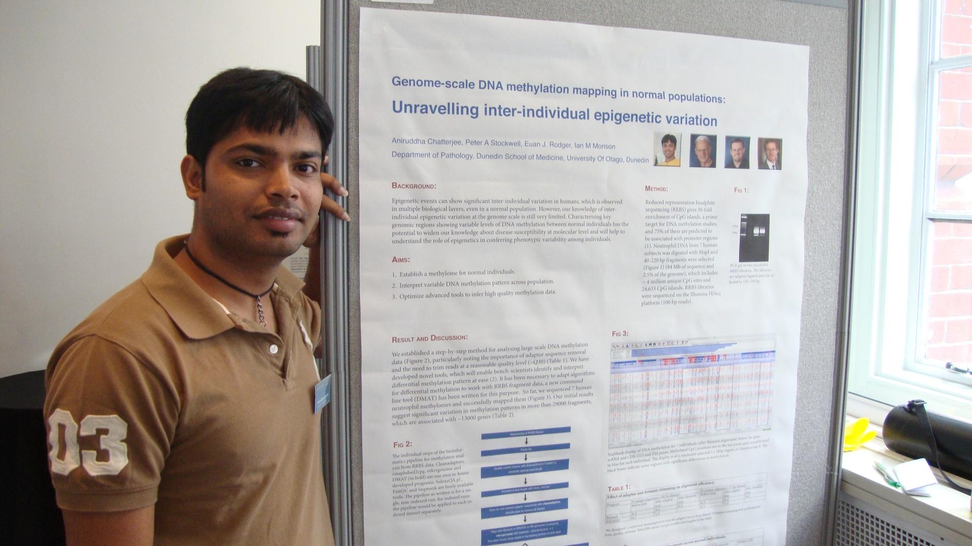Poster at MRC epigenetics conference , London, U.K