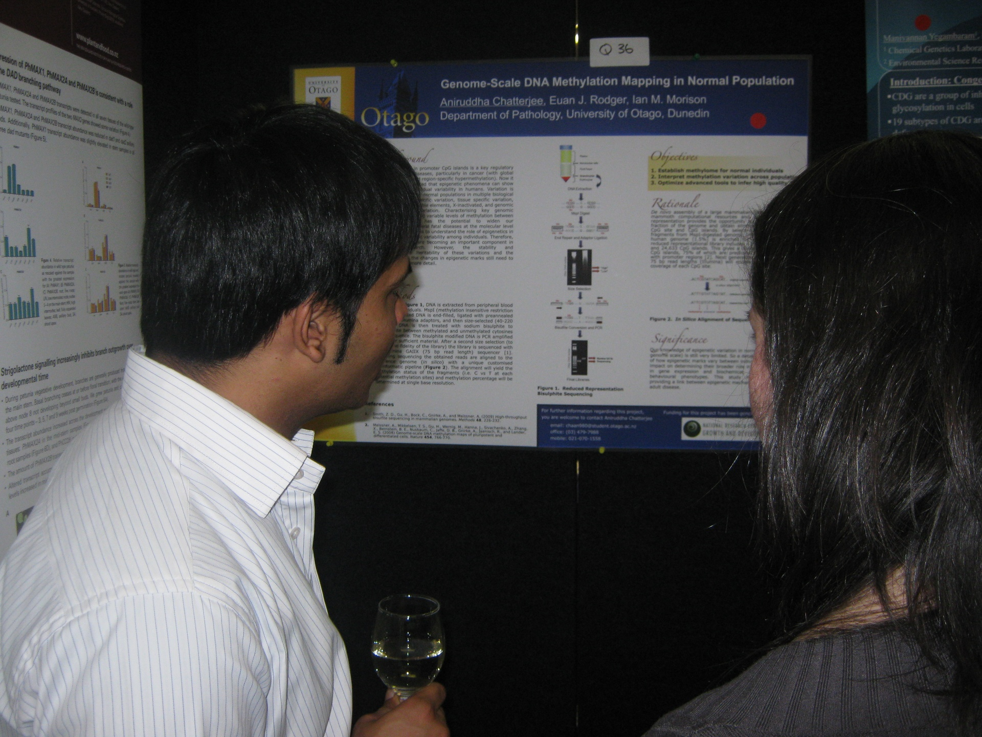 Poster presentation at Queenstown meeting, New Zealand